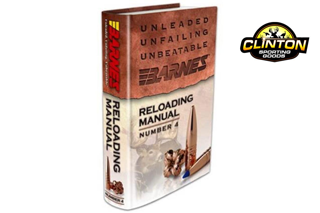 Barnes Reloading Manual #4   Clinton Sporting Goods
